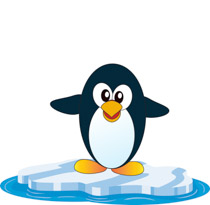 Gray White Penguin Clipart Si - Penguin Clip Art Free