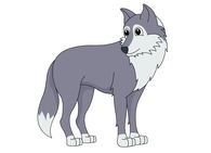 gray wolf standing clipart. S - Wolf Clipart