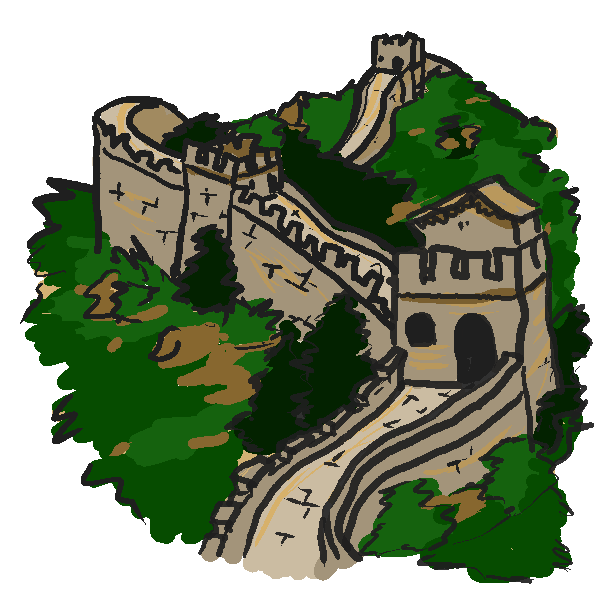 Great Wall Of China Clipart-Clipartlook.com-600