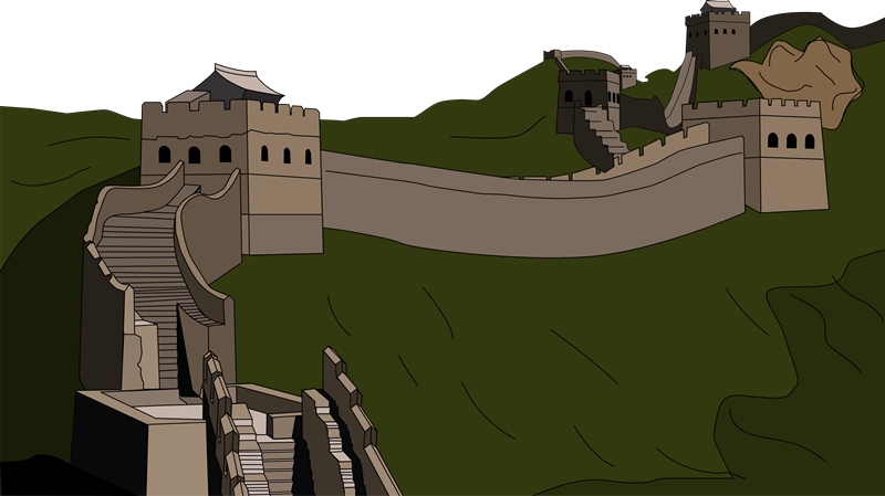 Great Wall Of China Clipart-Clipartlook.com-800