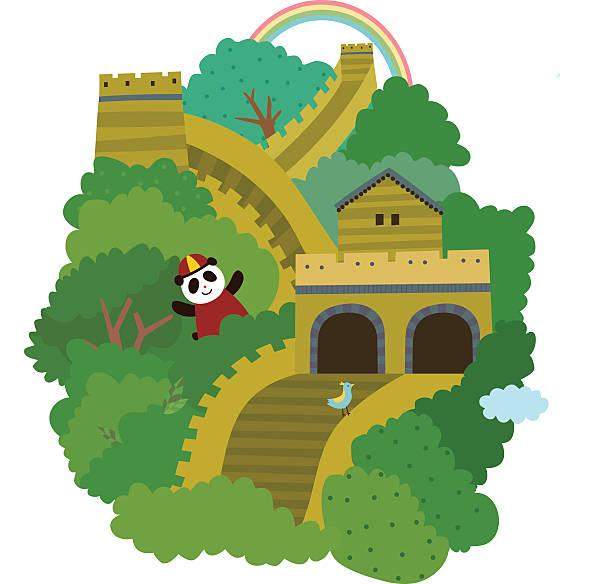 Clip Art Of A Great Wall Of China Clip Art, Vector Images u0026 Illustrations. u0027