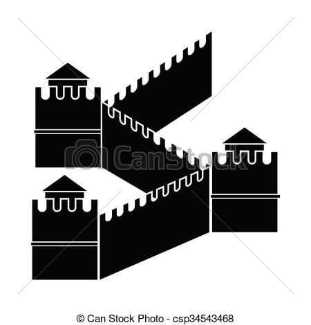 Great Wall of China icon, simple style - csp34543468
