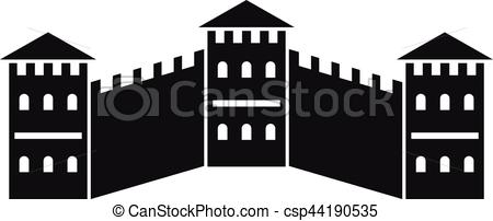 Great Wall of China icon, simple style - csp44190535