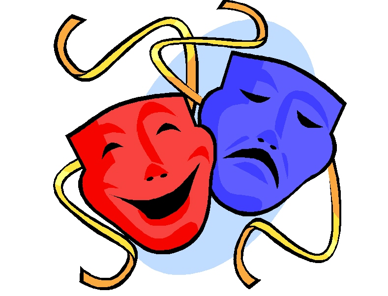 Greek Drama Masks Clipart Bes - Drama Mask Clip Art