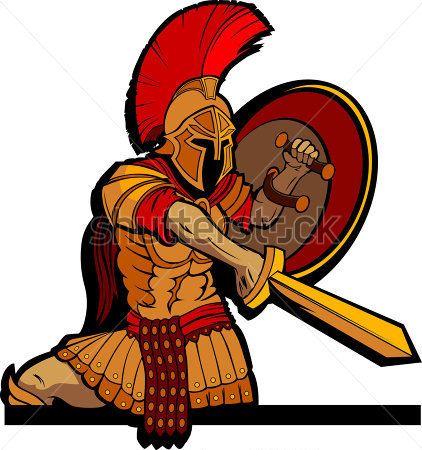 Greek Warrior Clipart