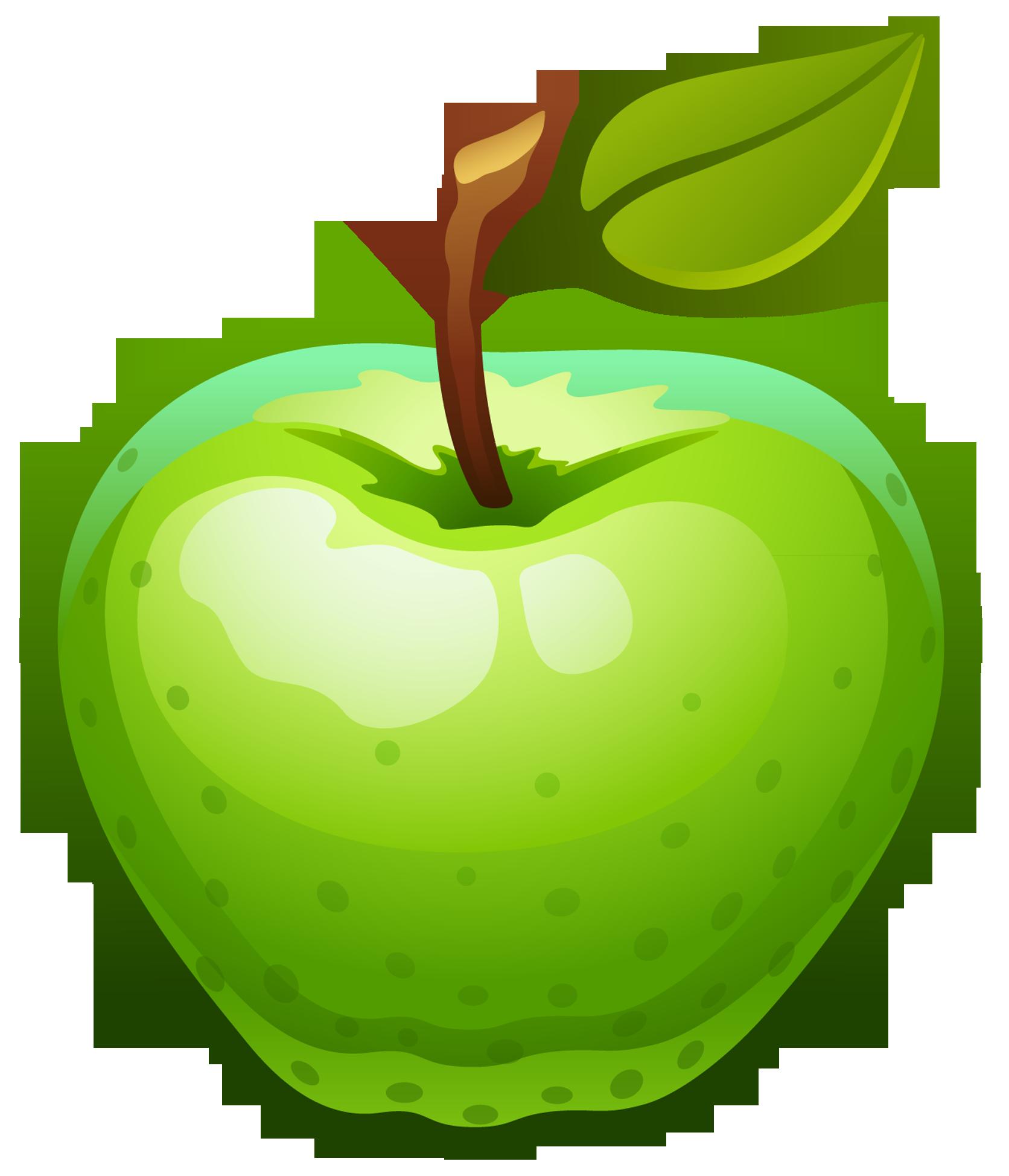 green apple clipart-green apple clipart-11