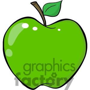 green apple clipart