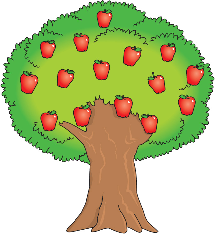 green apple tree clipart