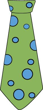 Green and Blue Polka Dot Tie Clip Art - Green and Blue Polka Dot Tie Image
