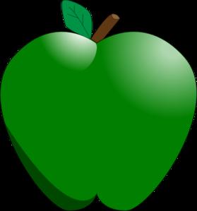 Green Apple Clip Art At Clker Com Vector Clip Art Online Royalty