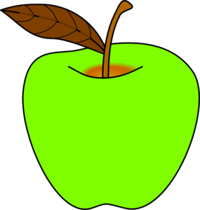 Green apple clipart .