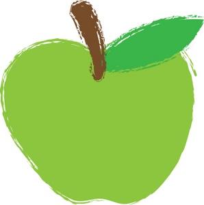 Green Apple Clipart Image: Green Apple
