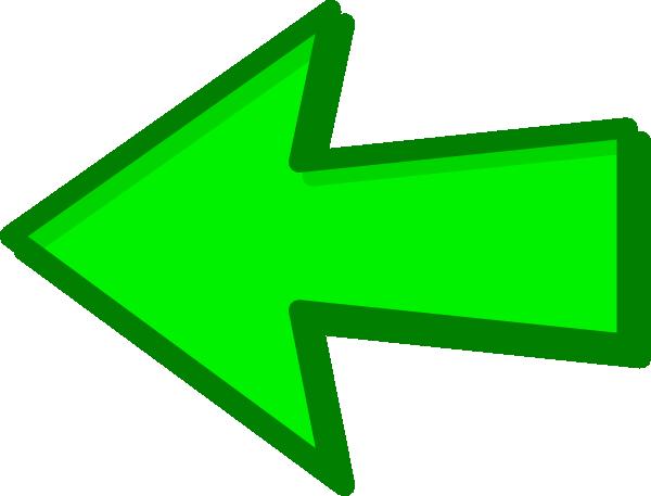 Green Arrow Green Left Clip Art At Clker Com Vector Clip Art Online