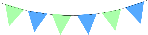Green Blue Bunting Clip Art At Vector Clip Art Online