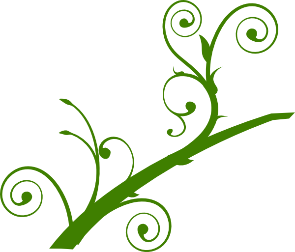 Green Branch Leaves clip art - vector clip art online, royalty