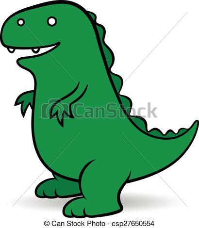 ... Green cartoon Godzilla monster - Green cartoon Godzilla, a.