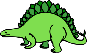 Green Cartoon Stegosaurus Cli - Stegosaurus Clip Art