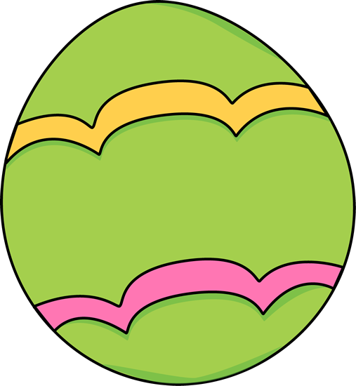 Green Decorated Easter Egg