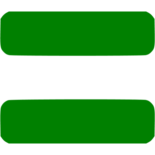 Green Equal Sign 2 Icon Free  - Equal Sign Clipart