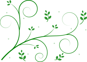 Green Floral Vine Clip Art