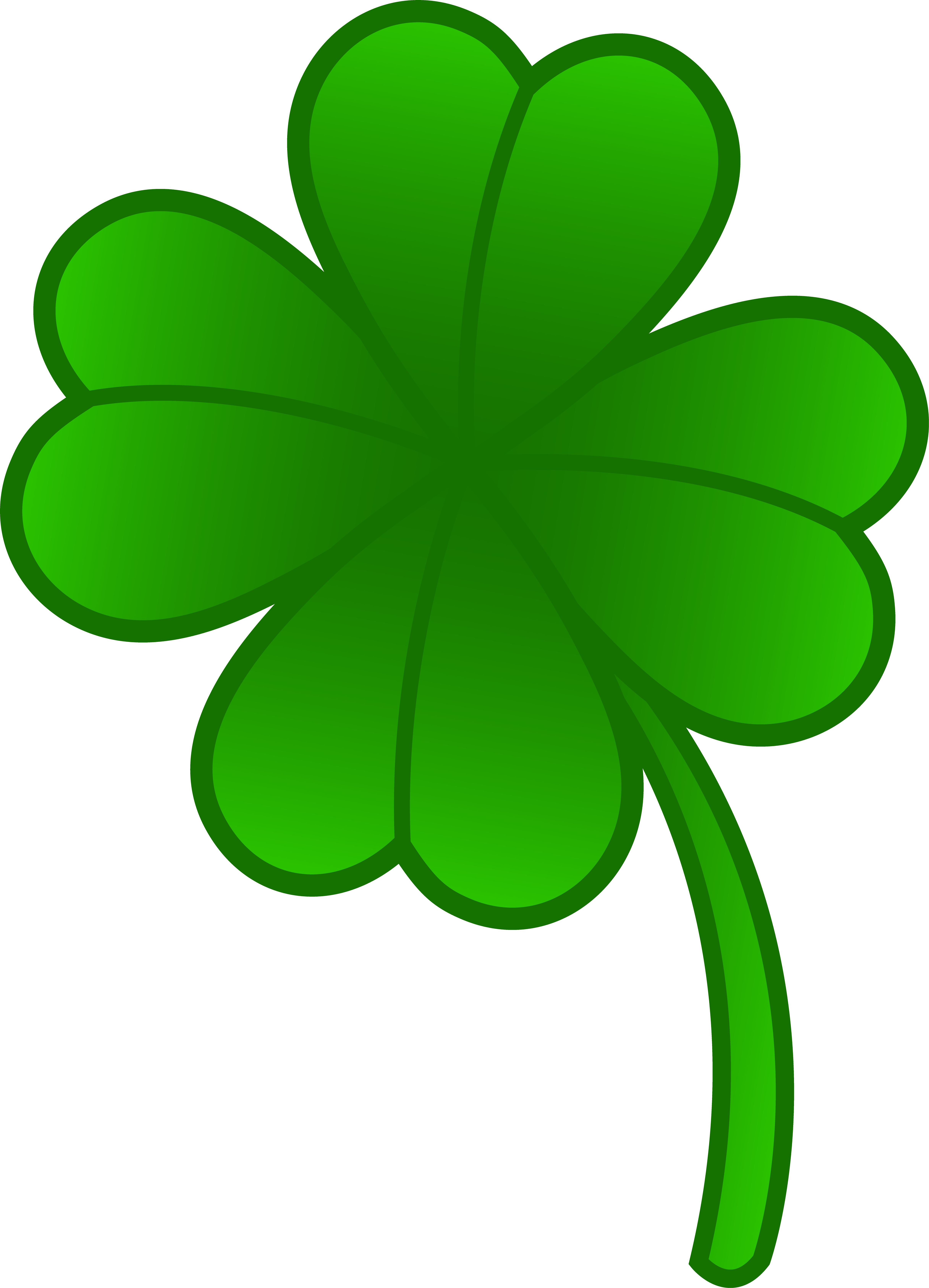Green Four Leaf Clover - Free Clip Art-Green Four Leaf Clover - Free Clip Art-17