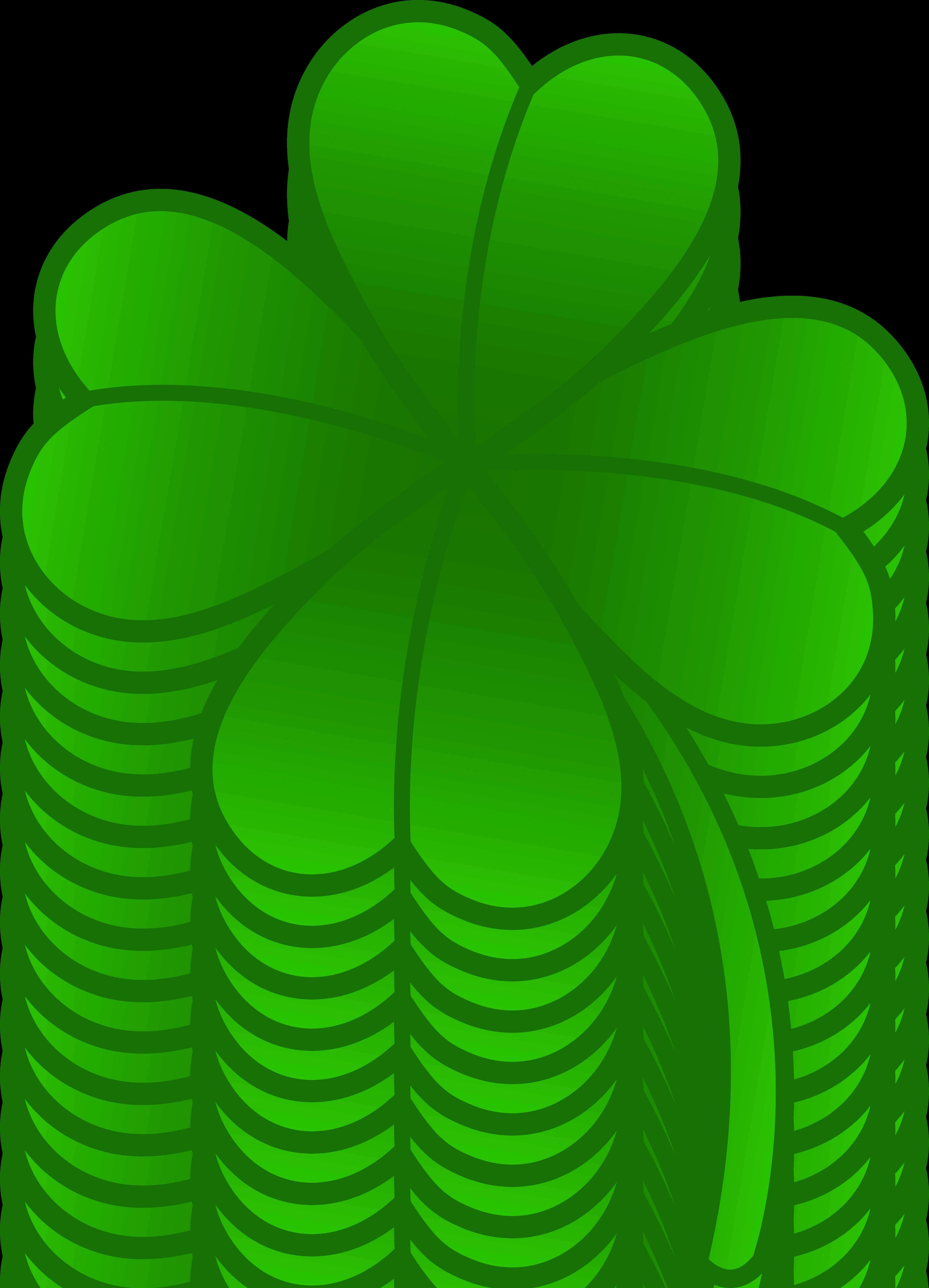 Green Four Leaf Clover - Free Clip Art