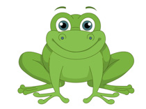 green frog smiling clipart. Size: 93 Kb