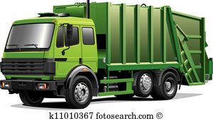 green garbage truck-green garbage truck-4