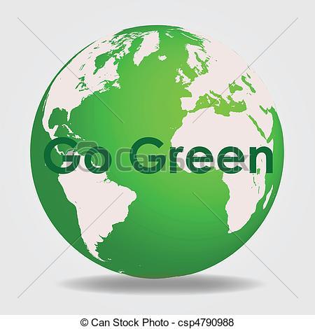 Green Globe Clipart. Go Green - Csp47909-Green Globe Clipart. Go Green - csp4790988-10