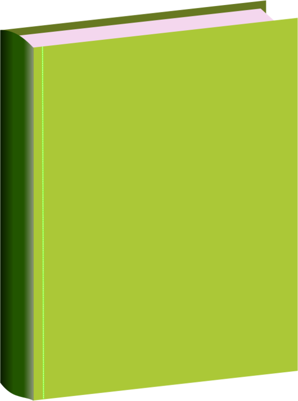Green Hard Book Cover Clipart