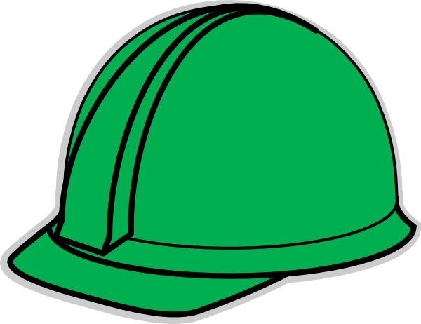 Green Hard Hat clip art - vector clip art online, royalty free