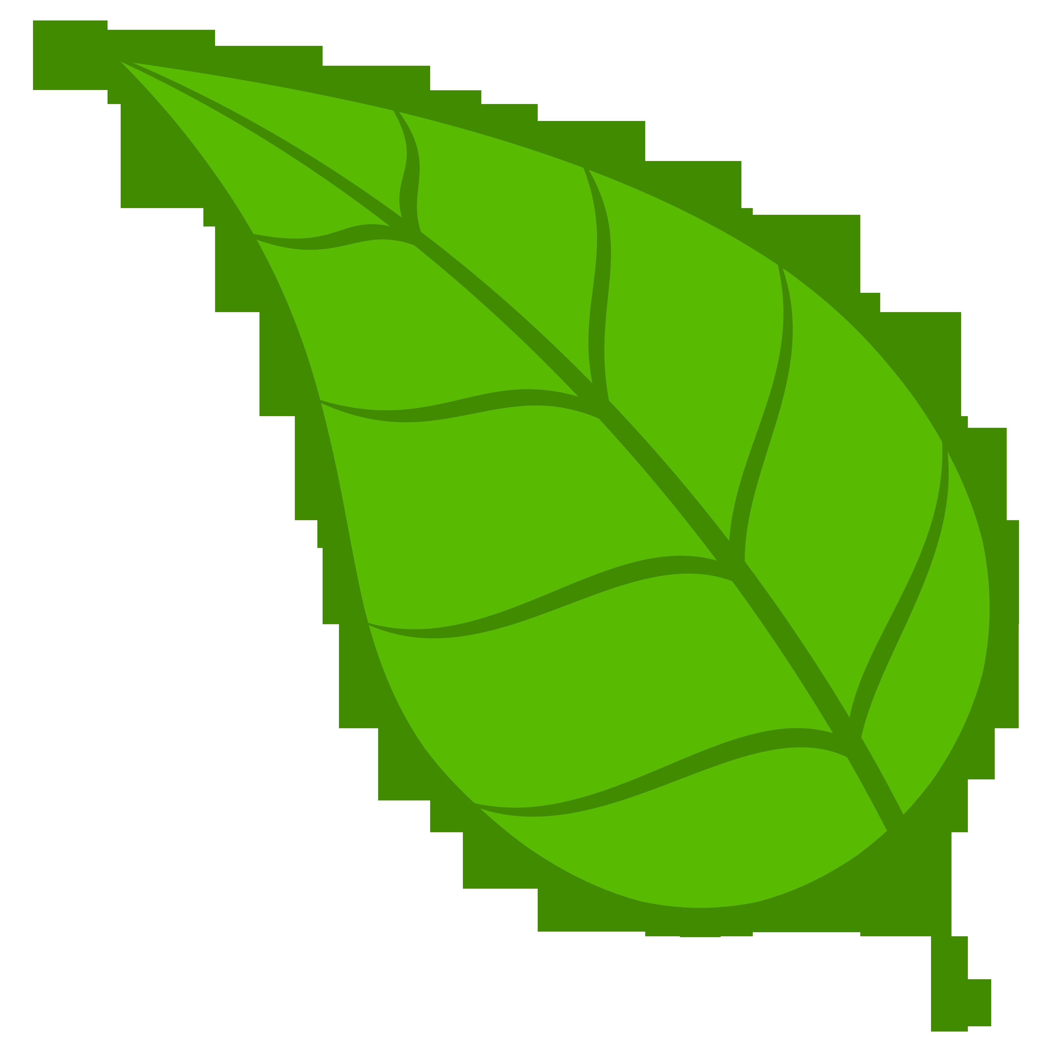 Green Leaf Clip Art Png Download Clipart