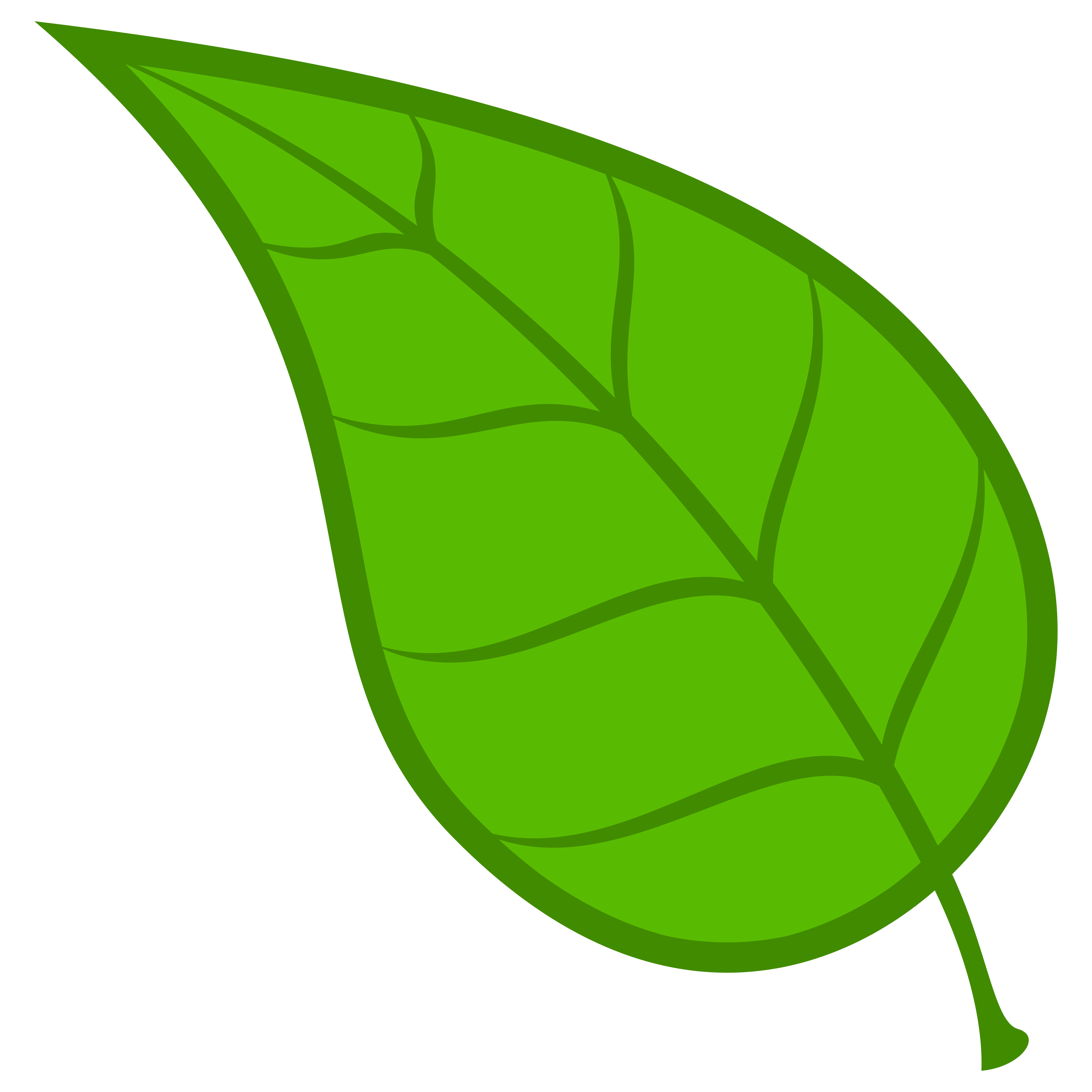 green leaf clipart