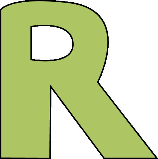 Green Letter R-Green Letter R-5