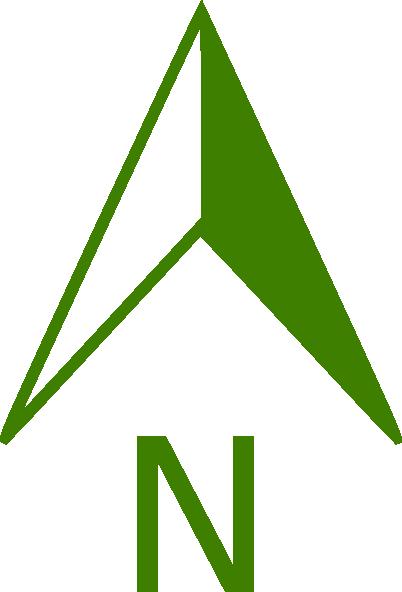 Green North Arrow Clip Art - Vector Clip-Green North Arrow clip art - vector clip art online, royalty free-4