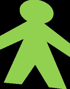 Green Paper Dolls Clip Art At Clker Com Vector Clip Art Online