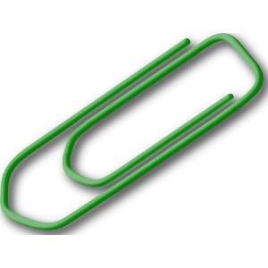Green Paperclip clip art-Green Paperclip clip art-17
