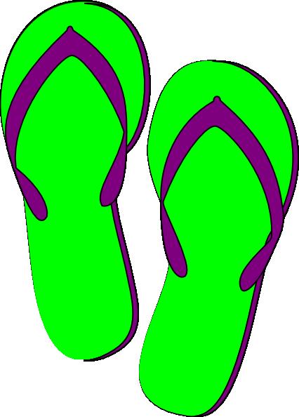 Green Purple Flip Flops Clip Art-Green Purple Flip Flops Clip Art-15