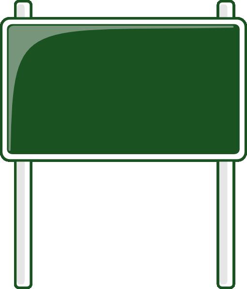 Green Road Sign Clip Art At Clker Com Vector Clip Art Online