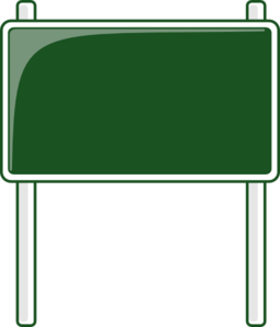 Green Road Sign Clip Art - Sign Clipart