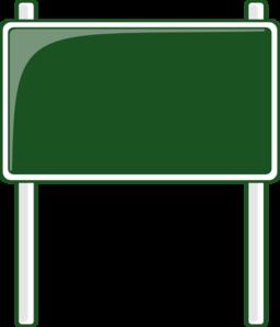 Green Road Sign Clip Art