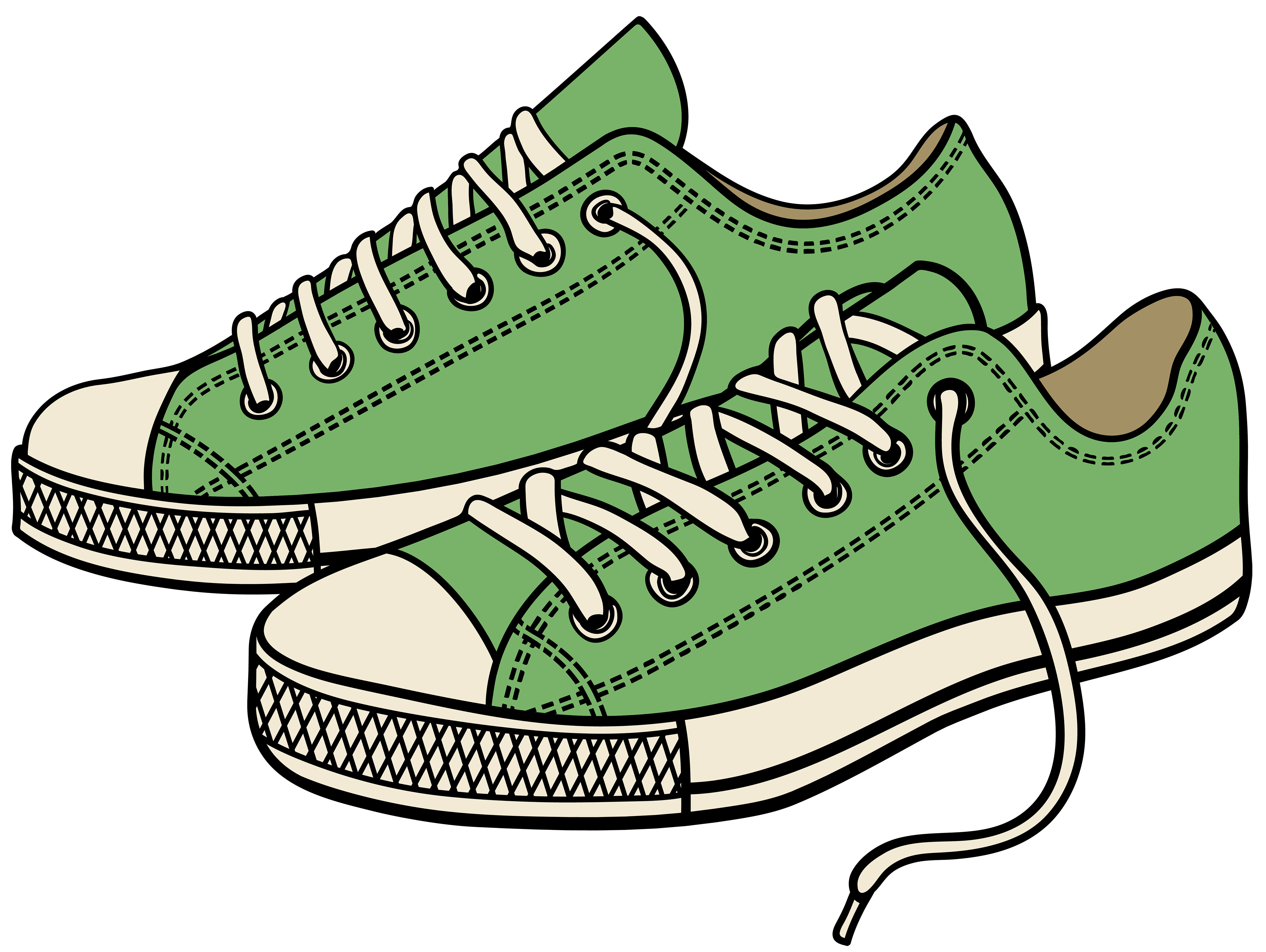 Green sneakers clipart web