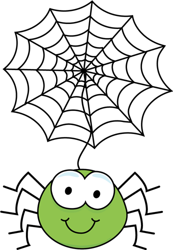 Green Spider Hanging From A Web Clip Art-Green Spider Hanging From a Web Clip Art-7