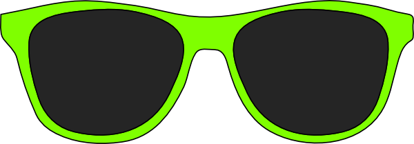 Green sunglasses clip art at clker com vector clip art