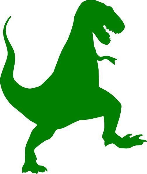 Green T-rex Silhouette Clip Art - Vector-Green T-rex Silhouette clip art - vector clip art online, royalty .-16