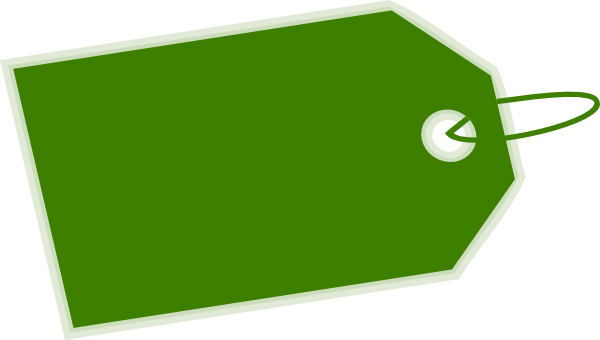 Green Tag Inverse Side Clip Art-Green Tag Inverse Side Clip Art-3