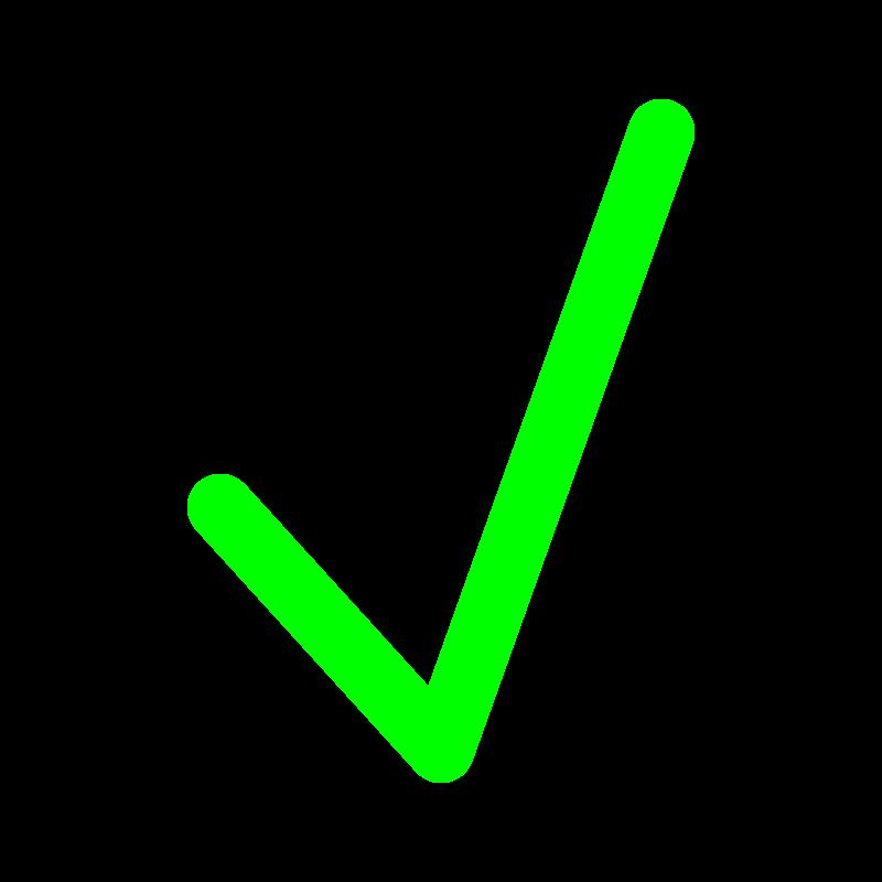 Green Tick Clipart-Clipartlook.com-800