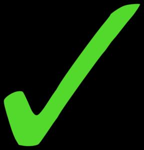 Bright Green Tick Clip Art