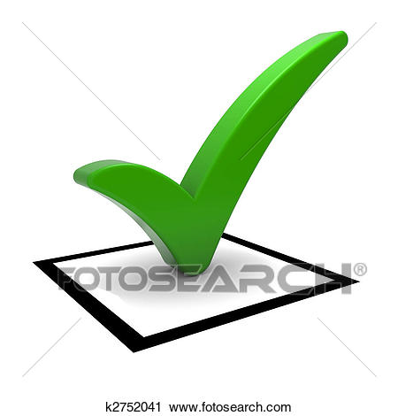 Check box with green check mark isolated-Check box with green check mark isolated on white. Part of a series.-18