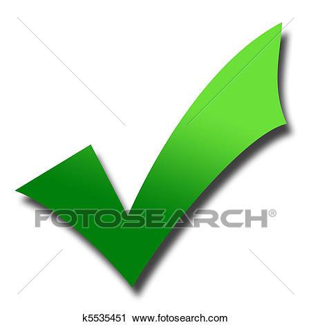 Clipart - Green tick mark. Fotosearch - -Clipart - Green tick mark. Fotosearch - Search Clip Art, Illustration  Murals, Drawings-2